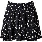 Paul & Joe Polka Dot Flared Silk Skirt