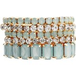 Erin Elizabeth For Johnny Loves Rosie Mint Lila Pastel Stretch Bracelets - Green