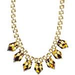 Liquorish Gem Drop Statement Necklace - Gold