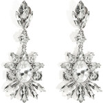 R.J.Graziano Crystal Floral Drop Earrings in Silver