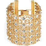 R.J.Graziano Crystal Mesh Link Bracelet in Gold