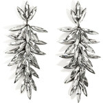 R.J.Graziano Crystal Linear Drop Earrings in Gunmetal