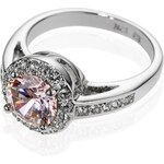 Marks and Spencer M&S Collection Platinum Plated Diamanté Roulette Ring