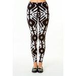 Tally Weijl Black & White Ikat Printed Leggings