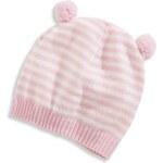 C&A Baby-Mütze in weiss / rosa von Baby Club