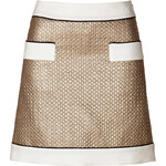 Moschino Metallic Wool-Silk Blend Mini-Skirt