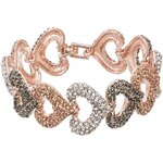 sweet deluxe DALLAS Armband rosegold/light peach/black diamond
