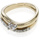 Marks and Spencer M&S Collection Gold Plated Wedding Band Duo Rings