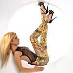 Fashion Leopardí legíny oranžové (Universal)