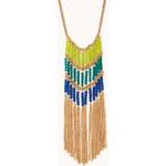 FOREVER21 Fancy Beaded Fringe Necklace