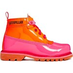 Caterpillar Alexa Pink Patent Ankle Boots - Orange