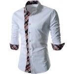 Pánská košile Slim Fit Tony bílá - bílá