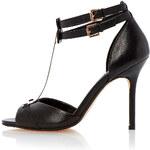 Topshop **Harness Metal Detail Leather Heels by Dune