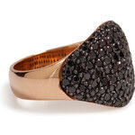 Ileana Makri 18K Pink Gold Havanna Ring with Black Diamonds