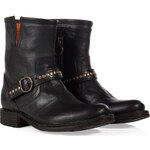 Fiorentini & Baker Leather Studded Strap Biker Boots