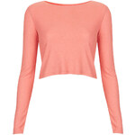 Topshop Long Sleeved Skinny Rib Crop Top