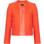 Topshop Textured Crop Jacket