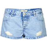 Topshop MOTO Denim Dotty Daisy Hotpants