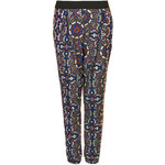 Topshop Kaleidoscope Jersey Tapered Trousers