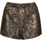 Topshop **Metallic Cracked Print Cropped Shorts by Rare