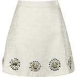 Topshop **Ivory Gold Sun Skirt by Sister Jane