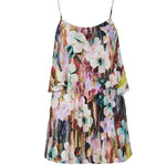 Topshop **Floral Print Frill Front Playsuit by Oh My Love