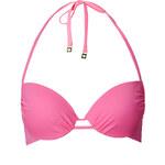 Topshop Pink Plunge Bikini Top