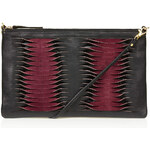 Topshop Twisted Leather Clutch