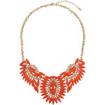 Topshop Orange Stone Collar