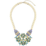 Topshop Green Stone Flower Necklace