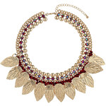 Topshop Leaf And Red Thread Collar