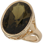 Topshop Green Oval Stone Ring