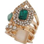 Topshop Green Multi Stone Ring