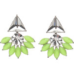 Topshop **Vintage Flower Crystal Earrings by Orelia