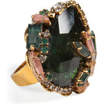 Erickson Beamon Queen Bee Ear Cocktail Ring in Green Chinoiserie