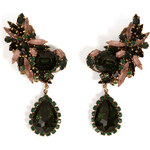 Erickson Beamon Queen Bee Ear Earrings in Green Chinoiserie