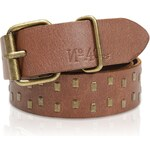 s.Oliver Genuine leather belt with studs