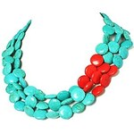 LightInTheBox Beads Turquoise Cluster Funky Chain Bib Fashion Necklace for Women