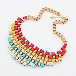 LightInTheBox Women'S Western Exaggerated Color Fashion Street Snap All Match Necklace