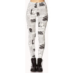 FOREVER21 Street-Chic Newspaper Leggings