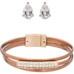 sweet deluxe SET SORAYA/ERILIEA Armband rosegold/crystal/bronze