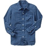 Gap Plaid Shirt - Navy gingham