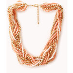 FOREVER21 Braided Beads and Chain Necklace
