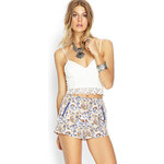 FOREVER21 Floral Paisley Woven Shorts