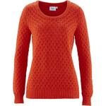 bpc bonprix collection Pullover langarm figurbetont in orange (Rundhals) für Damen von bonprix
