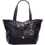 Glamorous by Glam Kožená kabelka malá se zapínáním - černá