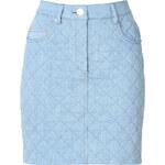 Moschino Quiled Denim Skirt