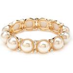 FOREVER21 Faux Pearl & Rhinestone Bracelet