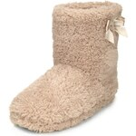 Marks and Spencer M&S Collection Faux Fur Shaggy Bow Boot Slippers