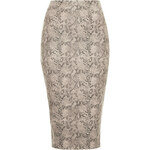 Topshop **Snake Print Split Back Midi Skirt by Rare